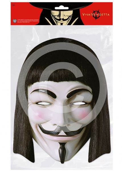 Vendetta Card Mask Halloween Guy Fawks Trick Or Treat Party Favour